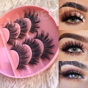 Other - Mink lashes + Eyelash Case w Mirror